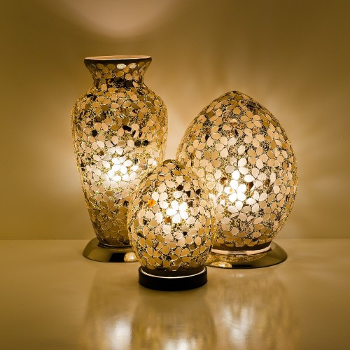 Mosaic Glass Lamps - Autumn Gold Together