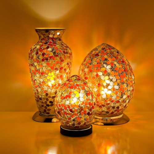 Mosaic Glass Lamps - Amber Together