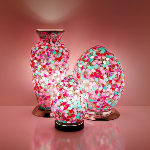 Mosaic Glass Lamps - Pink Together