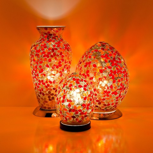 Mosaic Glass Lamps - Red Together