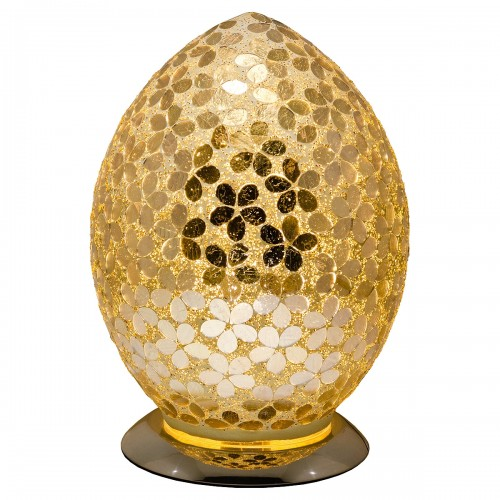 Mosaic Glass Egg Lamp - Gold