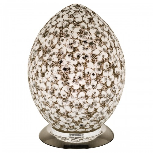 Mosaic Glass Egg Lamp - White