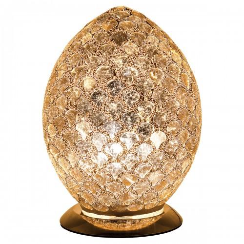 Mosaic Glass Egg Lamp - Gold Tile