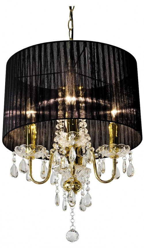 Beaumont Four Light Gold Chandelier