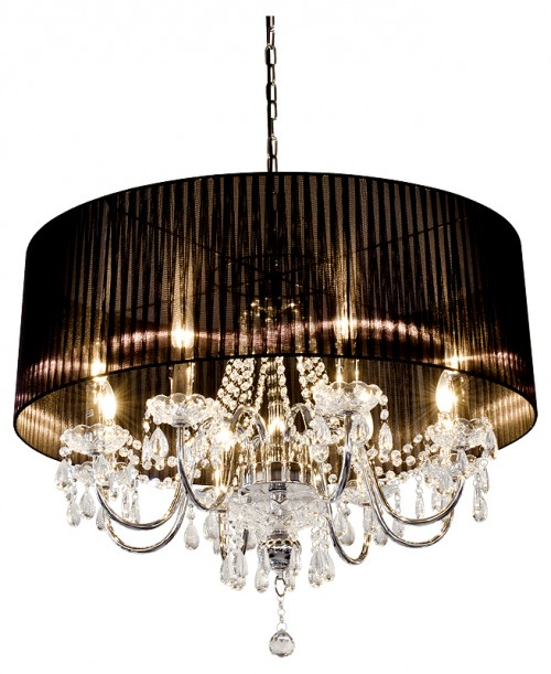 Beaumont Eight Light Chandelier in Black