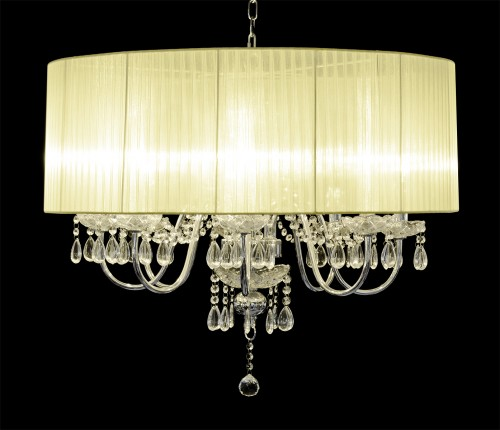 Beaumont Eight Light Chandelier in Cream