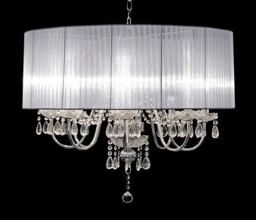 Beaumont Eight Light Chandelier in Silver