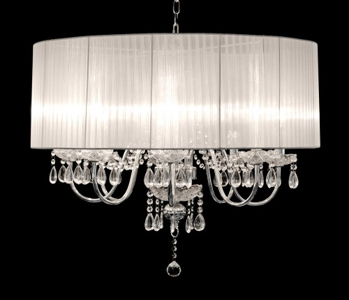 Beaumont Eight Light Chandelier in White