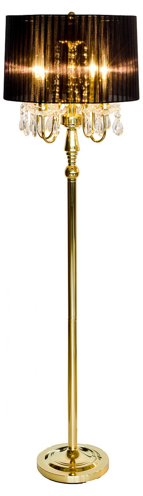 Beaumont Four Light Gold Floor Lamp