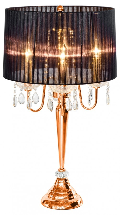 Beaumont Four Light Copper Table Lamp