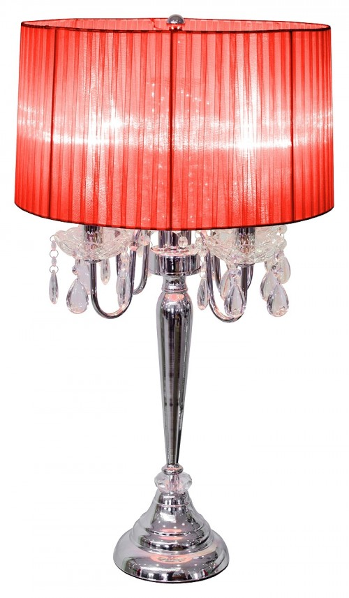 Beaumont Four Light Table Lamp - Red