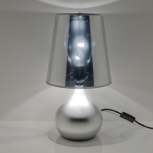 Metallic Spectre Table Lamp in Silver