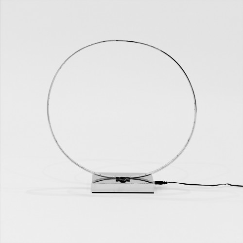 LED Ring Table Lamp - Turned Off