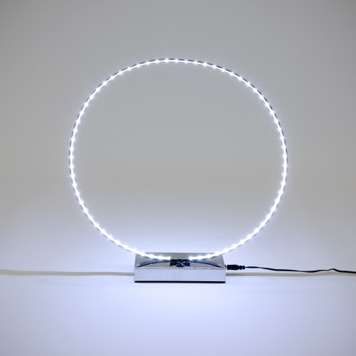 LED Ring Table Lamp - Turned On
