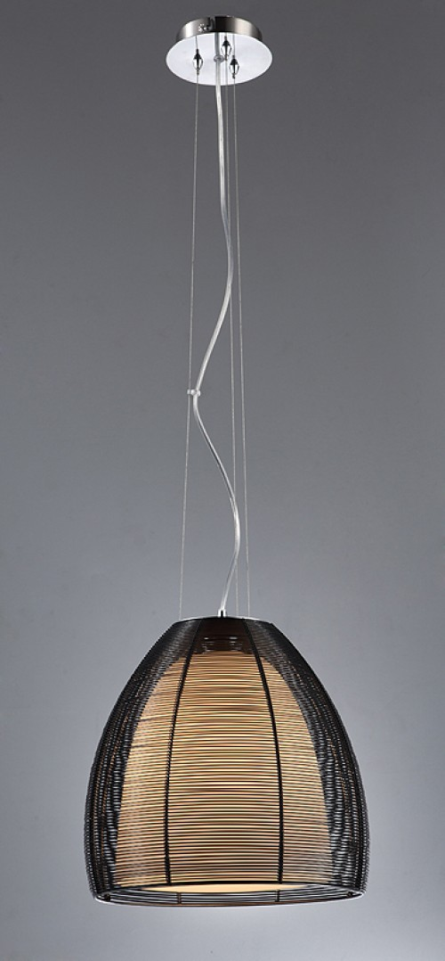 Wire Shade Chandelier in Black