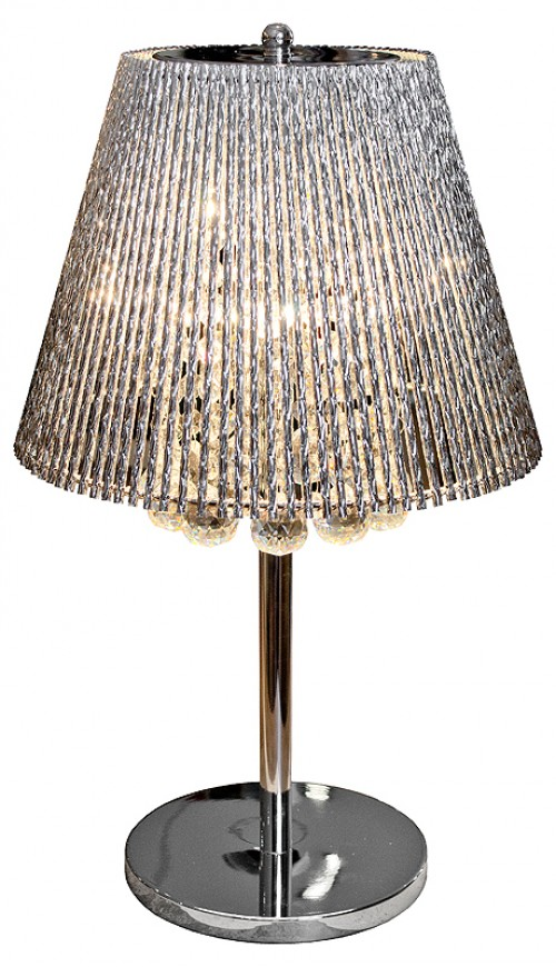 Silver Tube Shade Table Lamp