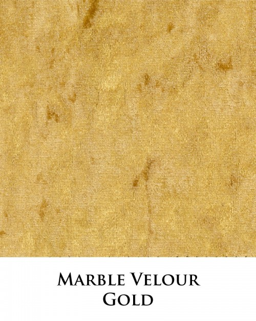 Marble Velour - Gold