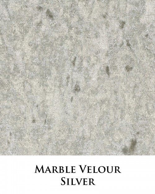 Marble Velour - Silver