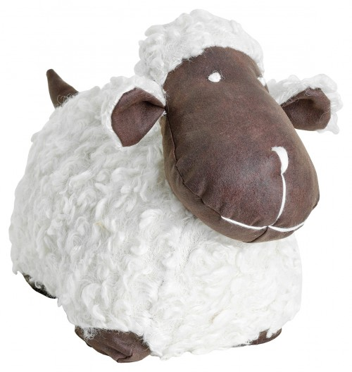 White Sheep Door Stop Plush