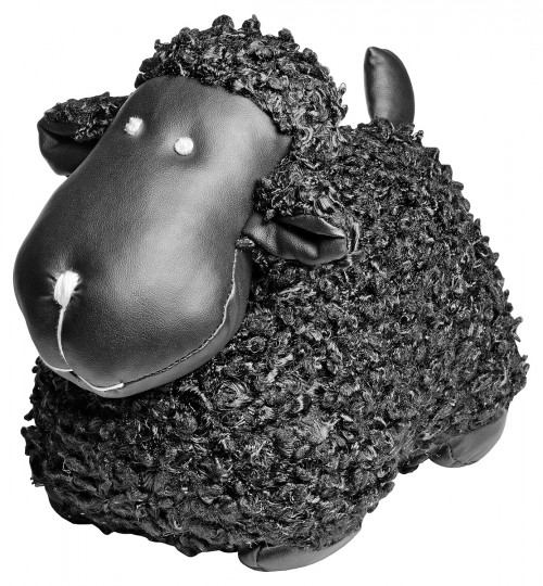 Black Sheep Door Stop Plush