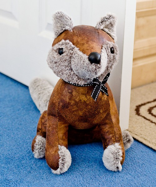 Fox door stop proping open the bedroom door