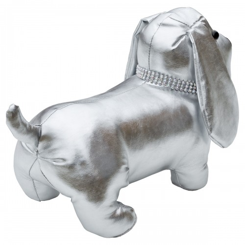 Silver Doggy Door Stop Plush - Back View