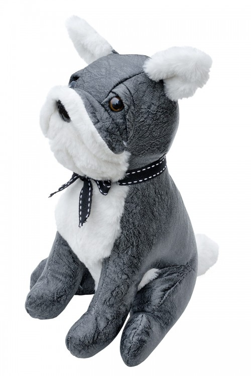 Grey Bulldog Door Stop Plush Grey Dog Plush Toy Door