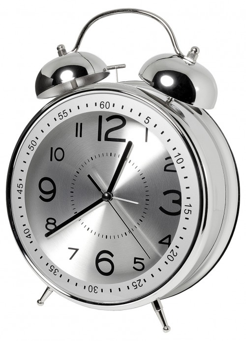 Giant Alarm Clock with Silver Face