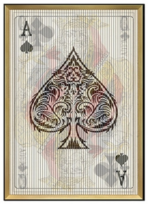 Playing Cards Kinetic Wall Art - Viewed from the front
