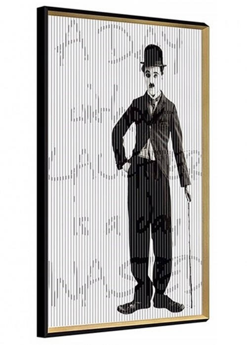Charlie Chaplin Kinetic Wall Art - Left View