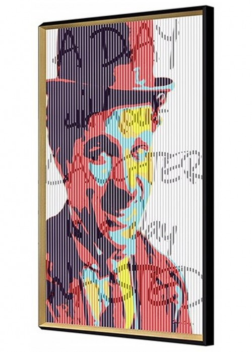 Charlie Chaplin Kinetic Wall Art - Right View