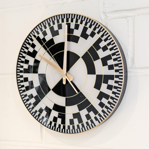 Chequer Style Clock in our Shworoom