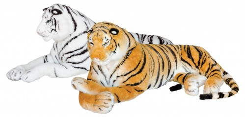 King Size Tiger Soft Toy Large White Tiger Plush Big