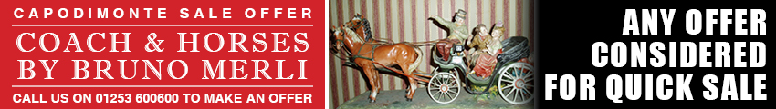 Coach and horses by Bruno Merli - Capodimonte sale offer