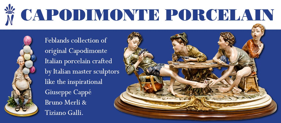 Capodimonte Italian porcelain collection at Feblands