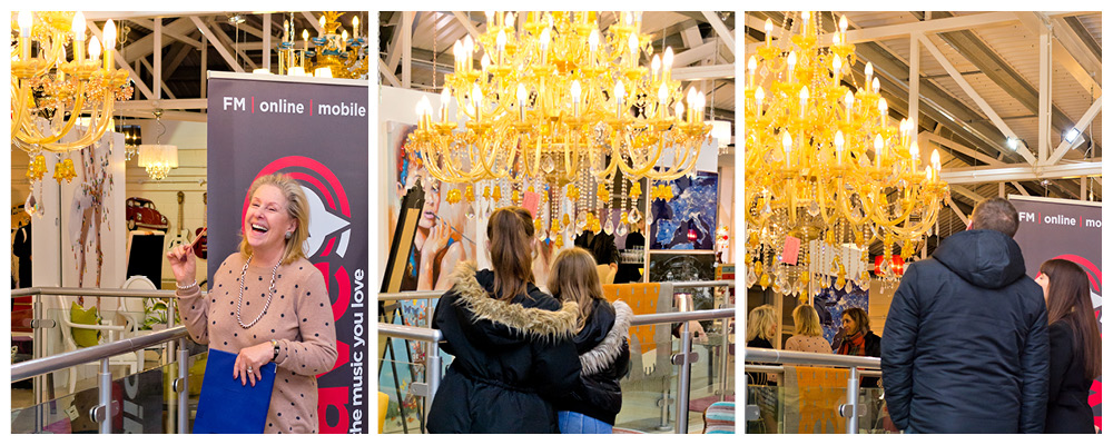 Febland Radio Wave Competition to count the number of crystals on our gold chandelier.