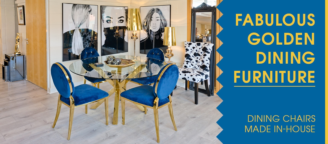 Gold Crossly Dining Set