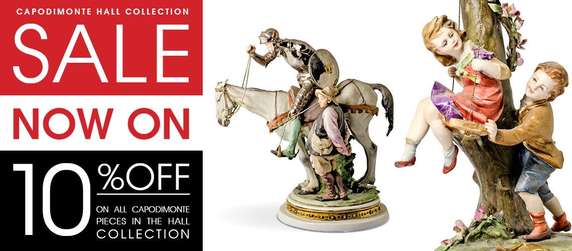 Capodimonte Italian porcelain Hall Collection Sale now on at Feblands