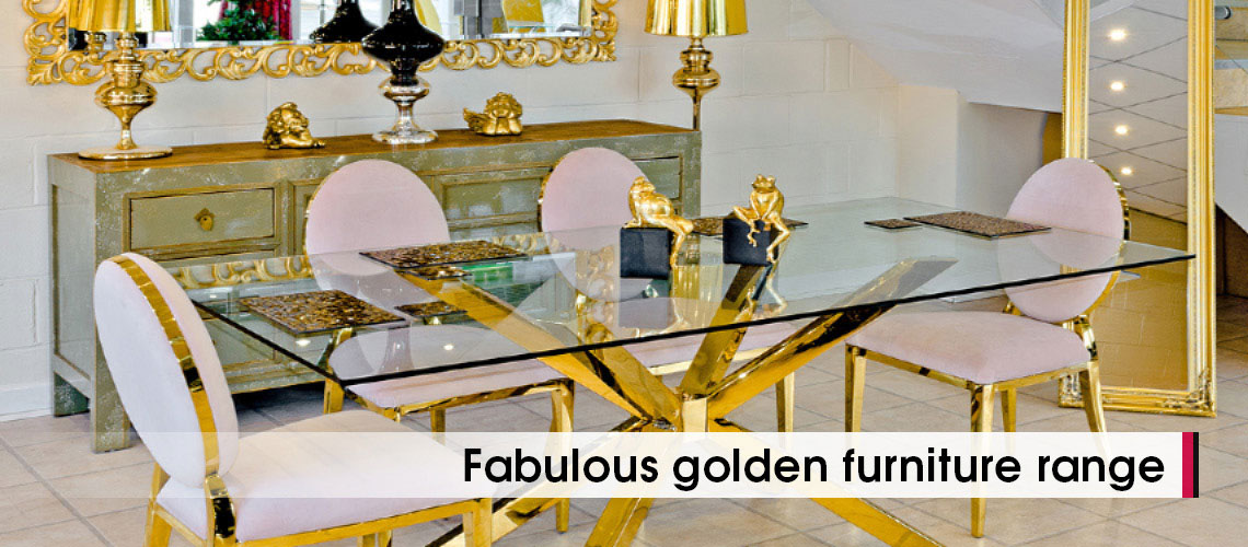 Midus Gold Crossly Dining Set